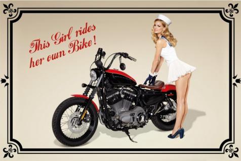 Lustige Karte Von Twizler Motiv Motorrad Und Vergessene Freundin