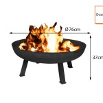 Grosse Gusseisen Feuerschale Modern 75cm Offene Feuerstelle Im Gartenfeuerstelle Kaufen Bei Setpoint Deutschland Gmbh