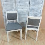 2 X Stuhle Massiv Weiss Graphit Esszimmerstuhle Kuche Modern Design Gunstig Neu Kaufen Bei Go Perfect