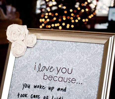 photo frame with personalised message