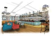 First Floor Bar - Architect's Sketch