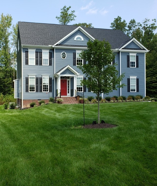 A home that received our lawn service in Chesterfield, VA