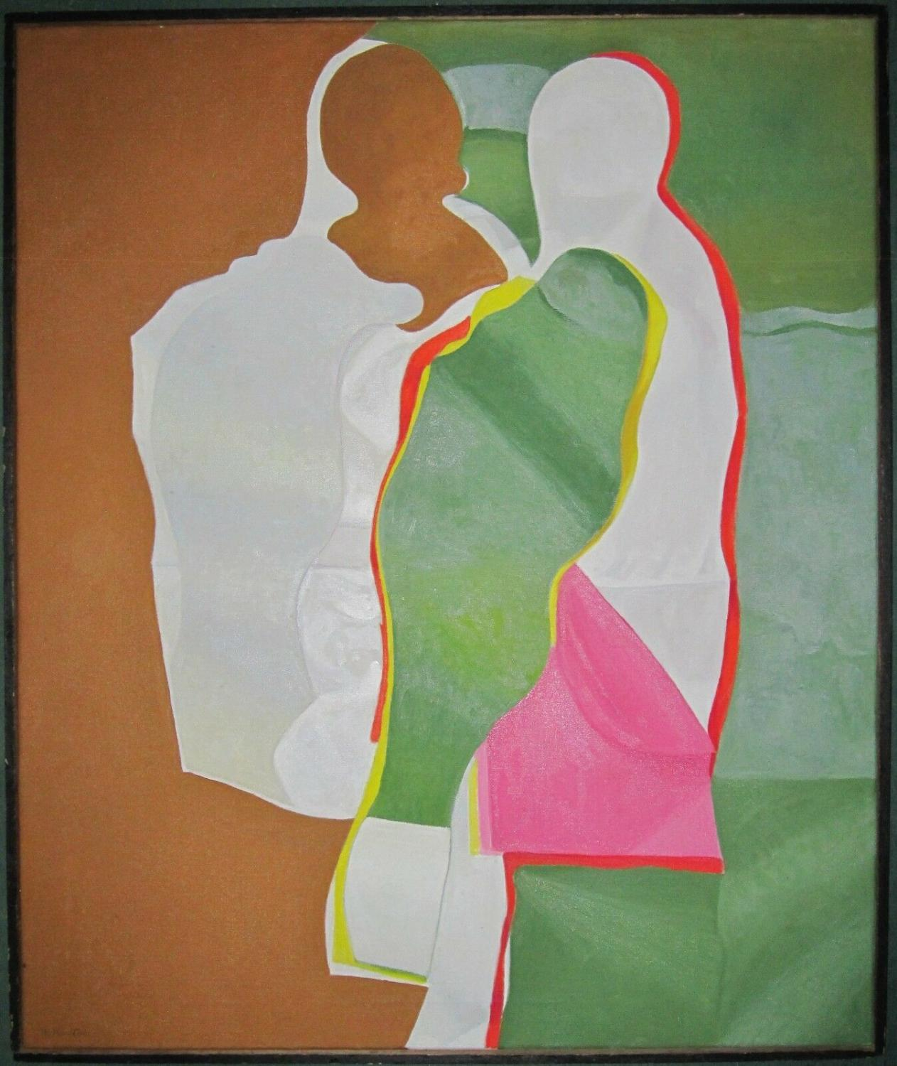 Vintage Mid Century Modern Cubism Russian American Listed Artist Ny Smithsonian 1989 Signed By Author S Arte Nbsp Nbsp Grabado Nbsp Nbsp Poster 21 East Gallery