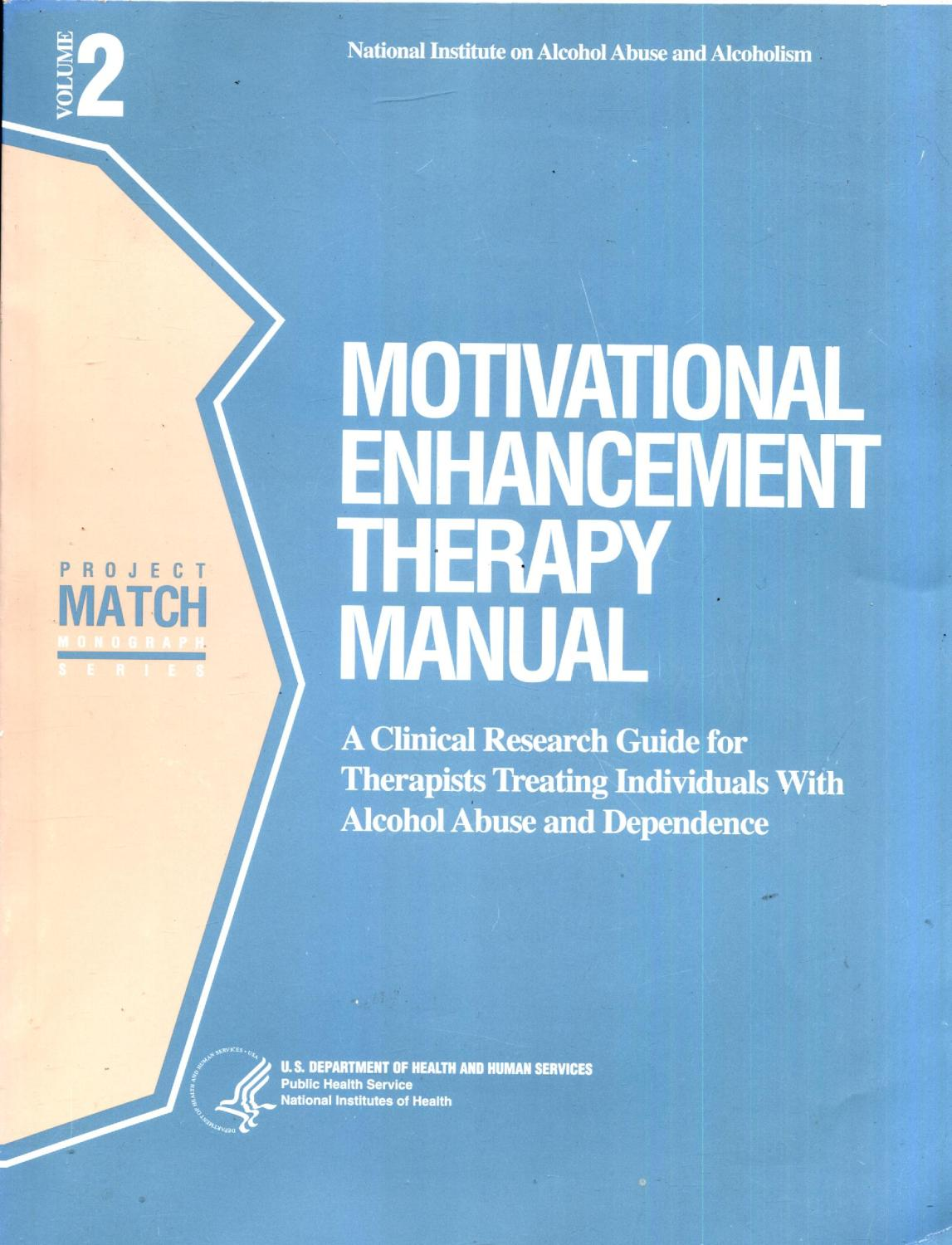 Motivational Enhancement Therapy Manual A Clinical