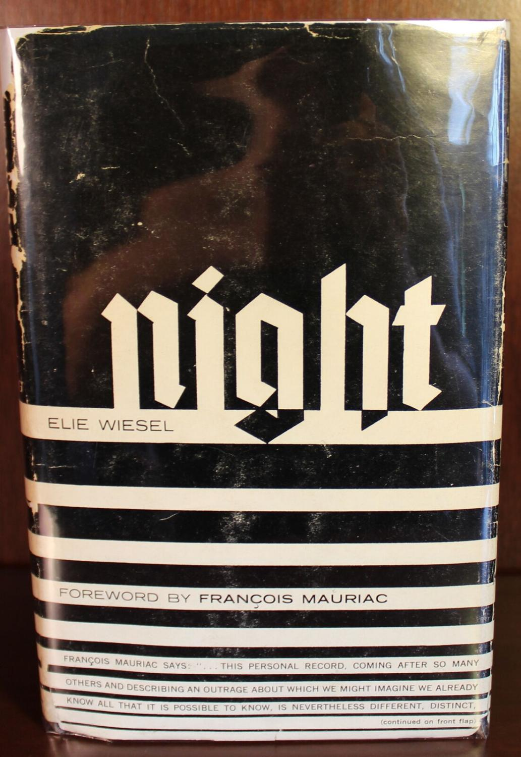 Night Signed By Elie Wiesel Very Good Hardcover
