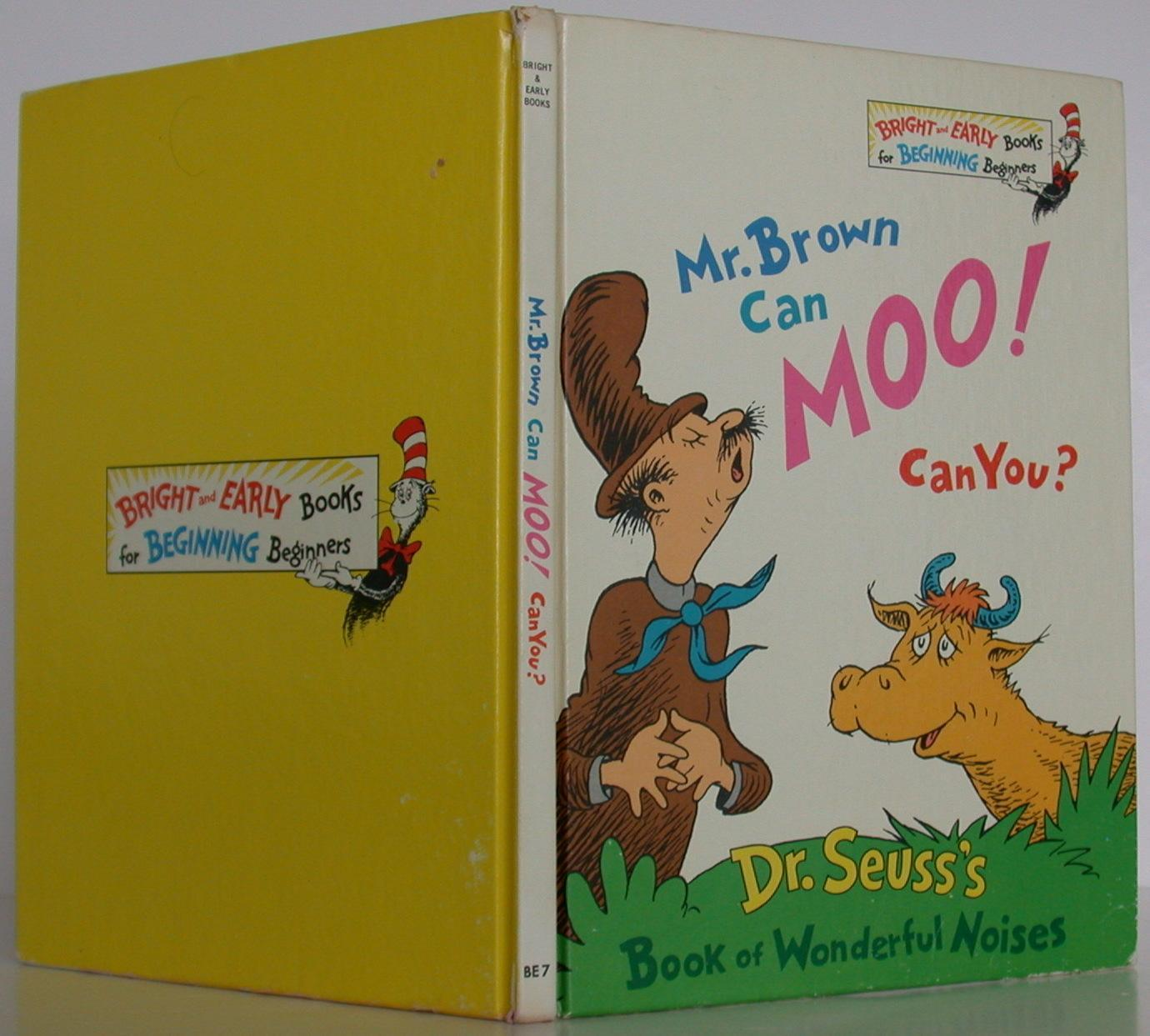 Mr Brown Can Moo Can You By Seuss Dr Very Good