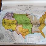 Ch 8 Canadian History Series Denoyer Geppert Series Vintage Wall Map Growth Of United States 1776 1853 Very Good No Binding Mad Hatter Bookstore