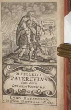 M. Velleius Paterculus Cum; Notis Gerardi Vossili by Paterculus ...