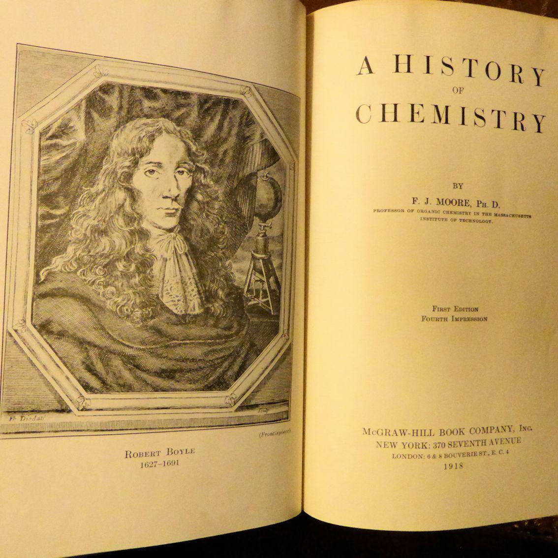 A History Of Chemistry F J Moore Illustrated Mcgraw