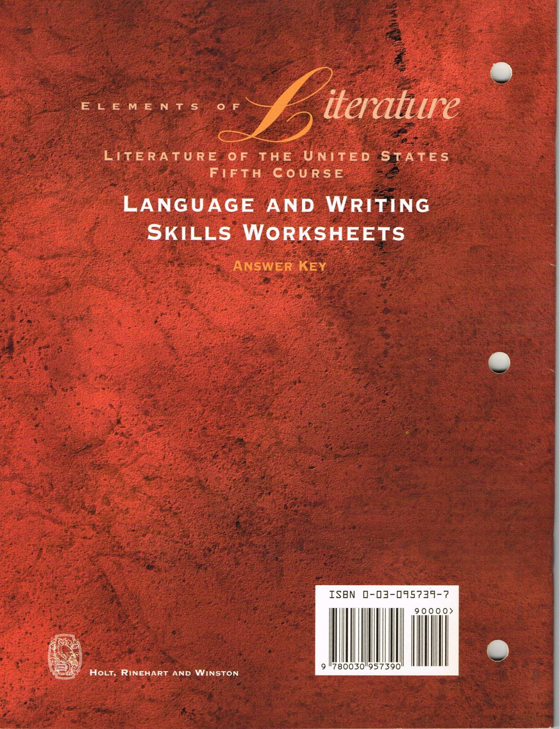 Elements Of Literature