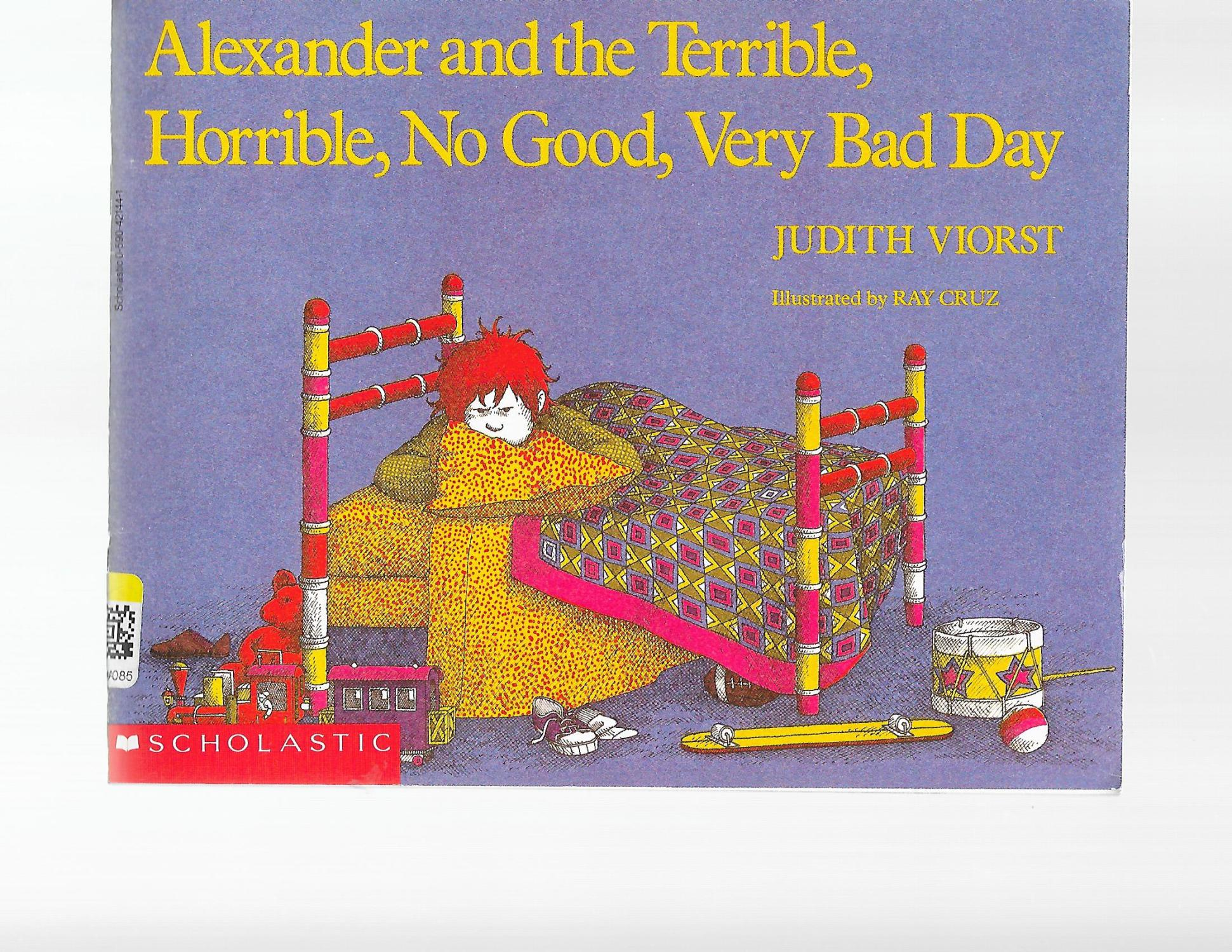 Alexander And The Terrible Horrible No Good Judith Viorst