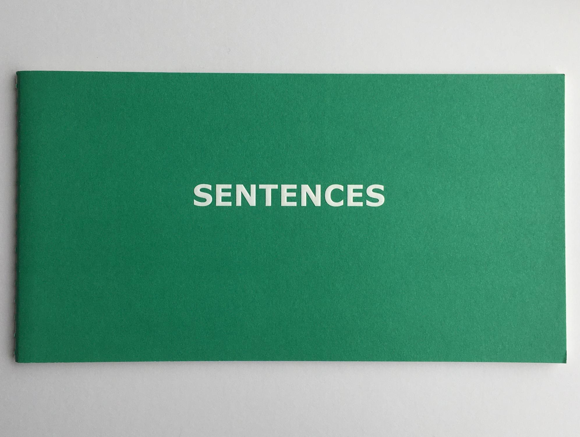 Sentences By Ian Hamilton Finlay And Pia Simig