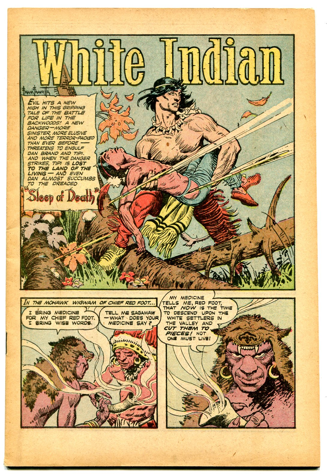 White Indian #12 1953-FRANK FRAZETTA ART-coverless reading copy: (1953)  Comic | DTA Collectibles