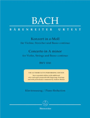 9790006466887: Bach: Violin Concerto in A Minor, BWV 1041 - AbeBooks