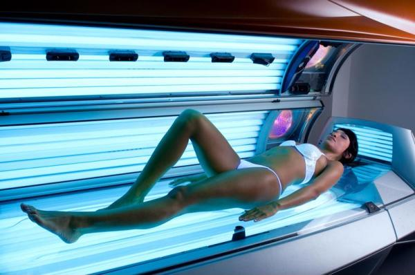 Tanning beds are bad for your tattoos and skin.