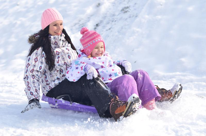 Children love sledding, but they must always be careful.