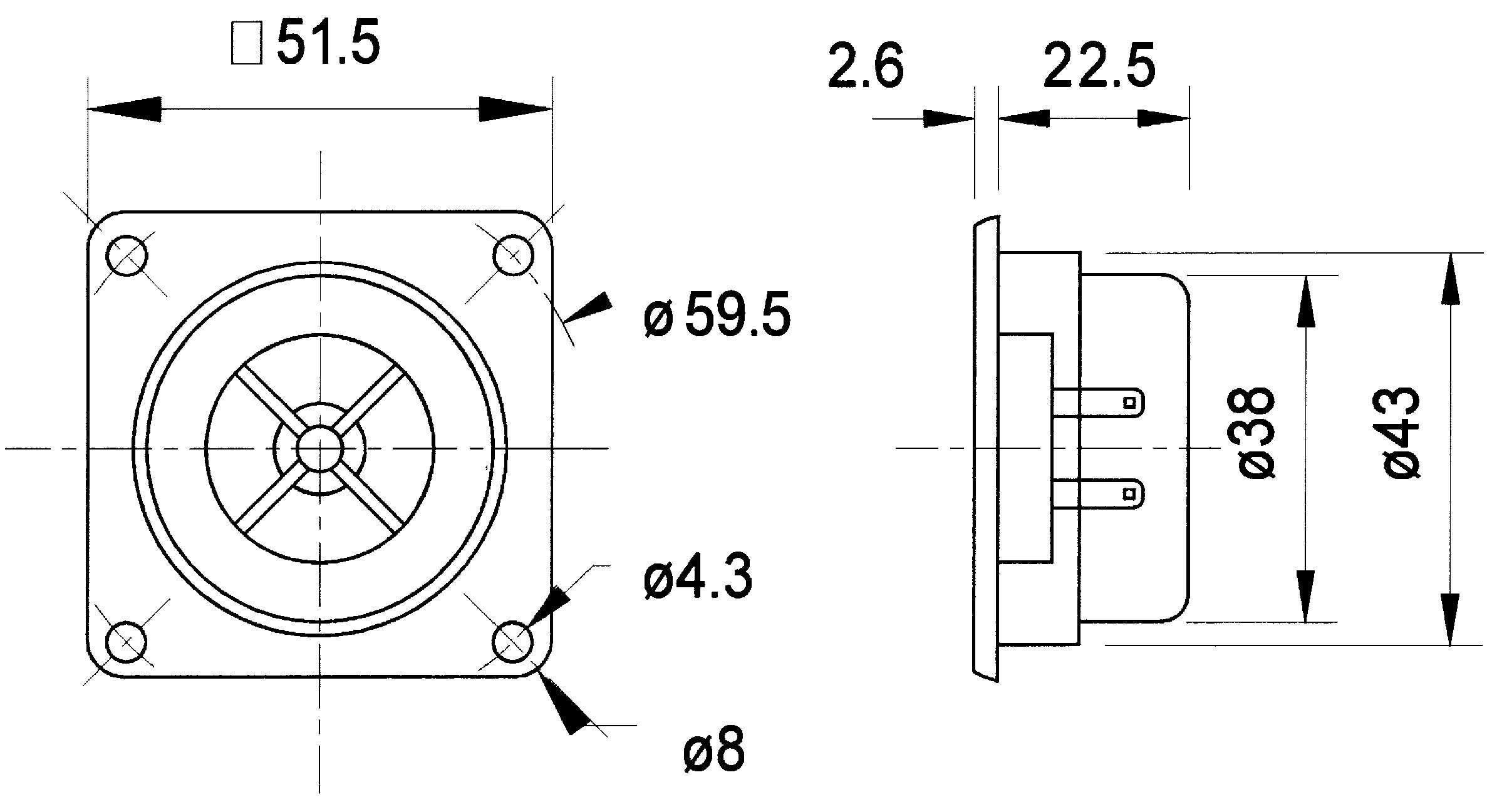 8 Ohm 3 Watt Speaker