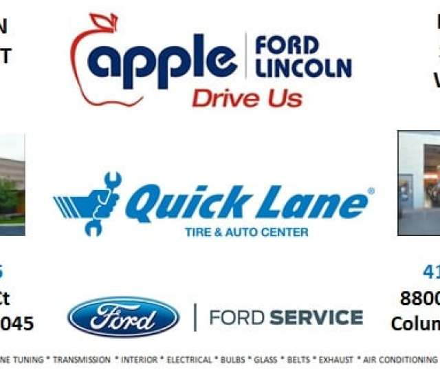 Apple Ford Lincoln Quick Lane Service Center