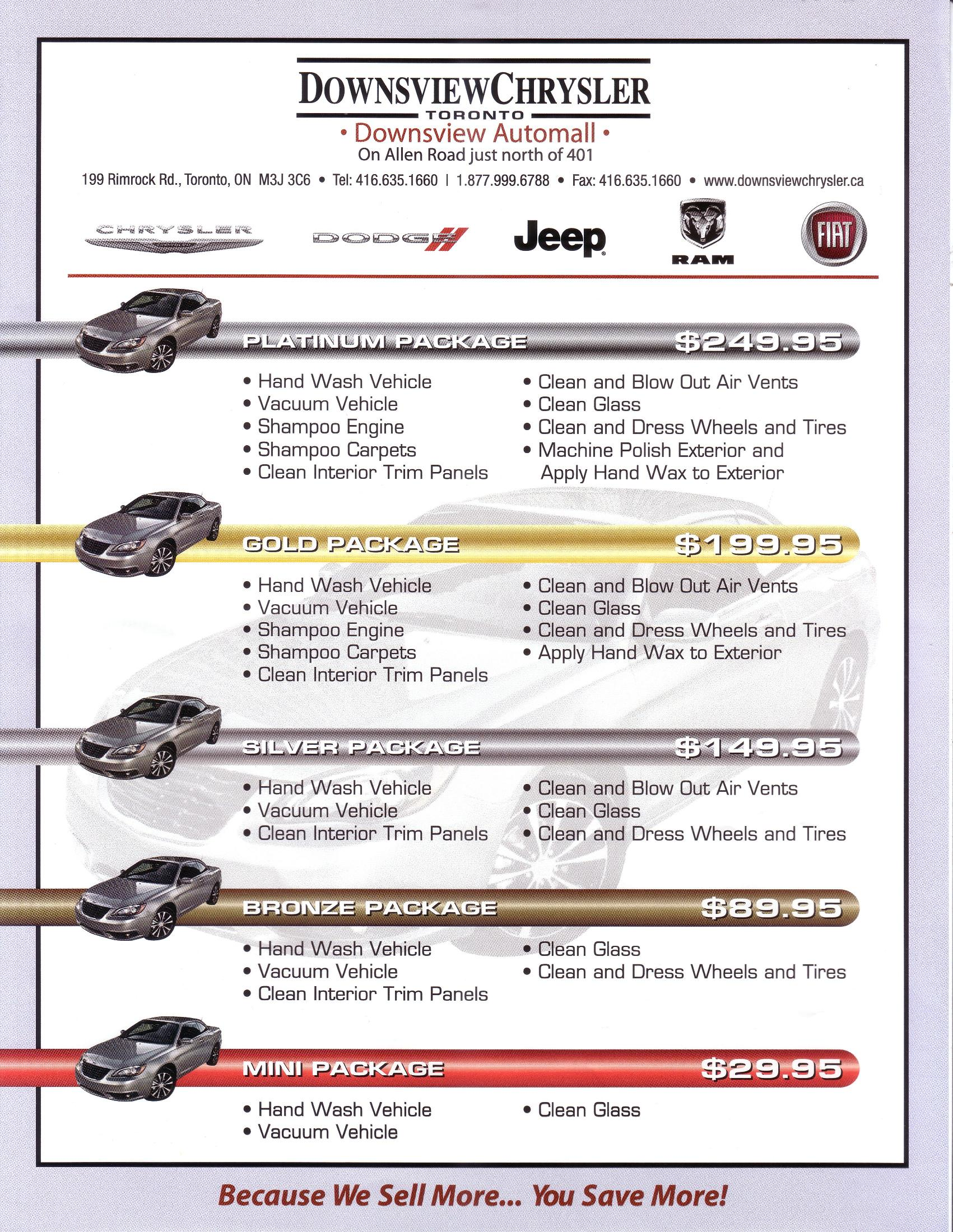 DOWNSVIEW CHRYSLER New Chrysler Jeep Dodge Ram FIAT
