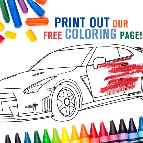 mossy nissan370z coloring book kids gtr nissan san diego adults