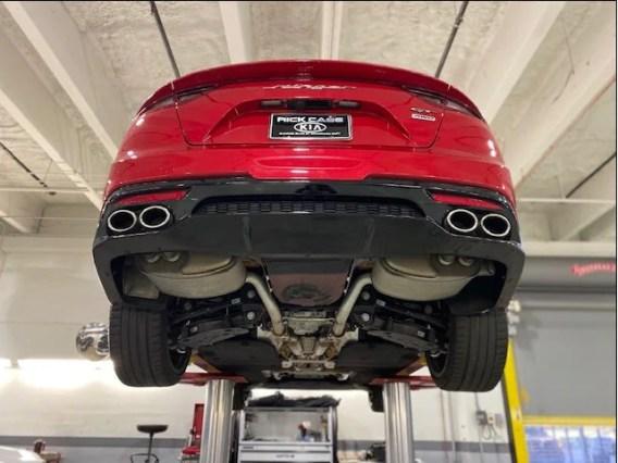 kia stinger exhaust customization