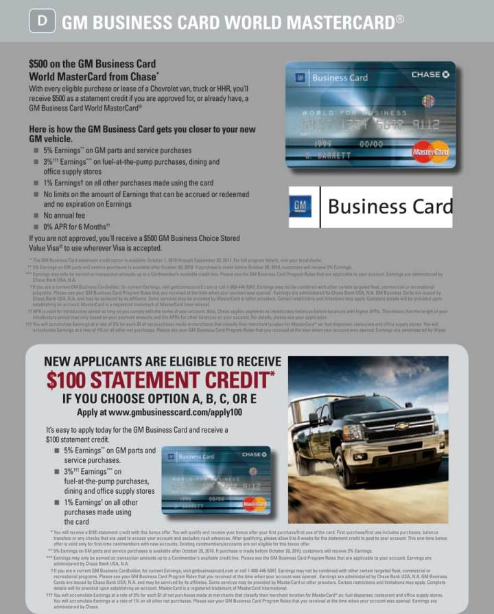 chase gm business card | Poemview.co