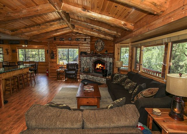 Spacious Cabin Living Room