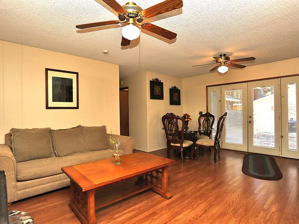 Spacious Living Room and Dining Area.