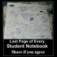 Last Page of Student's Notebook