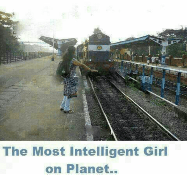 intelligent girl on planet