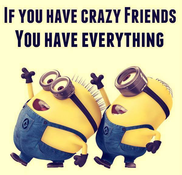 crazy friends funny quote
