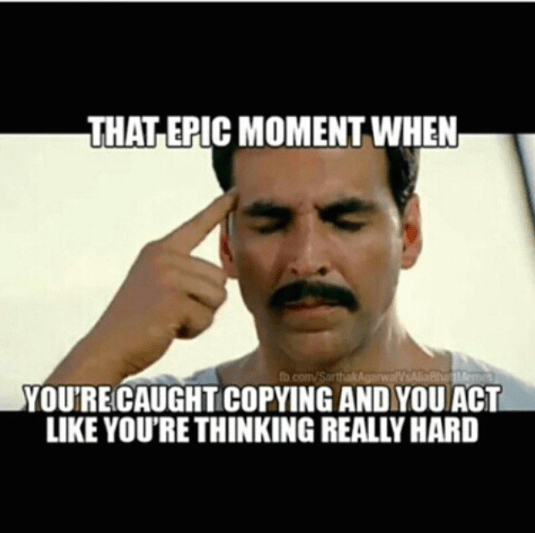 epic moment when caught copying
