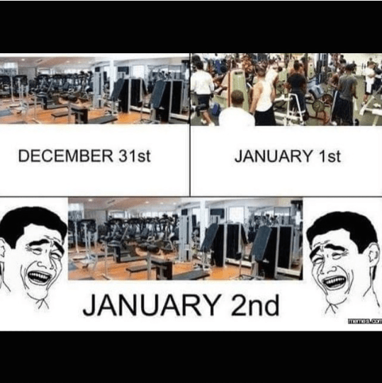 new year workout resolution