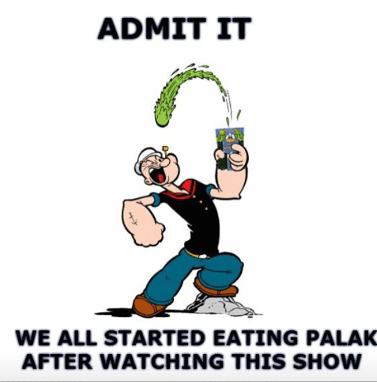 popeye taught eating spinach