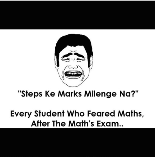 step marking in maths exam
