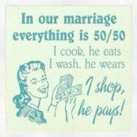 Perfect couple divides and shares everything - poor husbands
