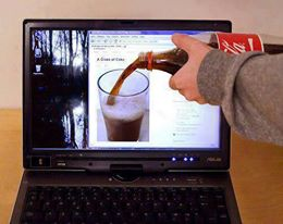 can you pour coke on your laptop??