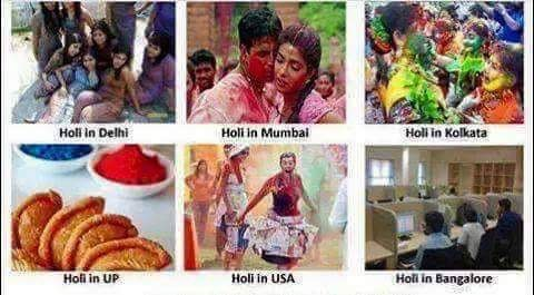 Holy celebration at different places