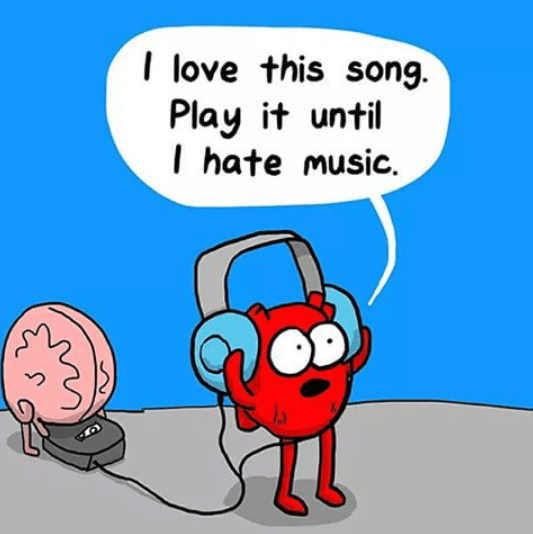 That moment when you put your favourite song on repeat