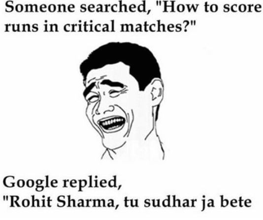 Rohit Sharma now highlighted on google