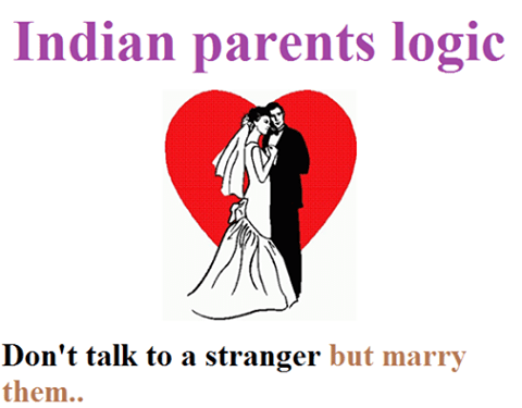 The logic of indian society and parents