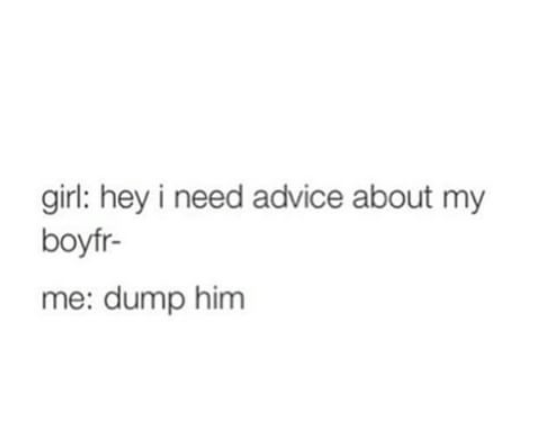 Genuine advice from a boy to a girl