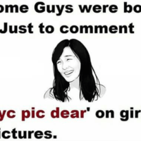 Is it compulsory to comment on girls pictures on facebook?