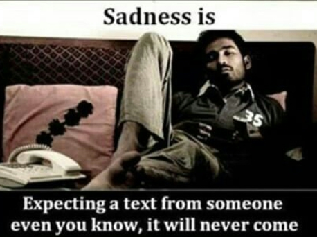 One of the reason of your sadness can be whatsapp