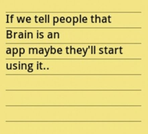 High level of mobile addiction - brain app