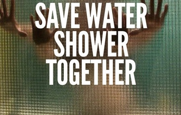 The hot and sensous way of saving water