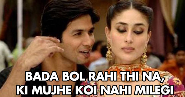 Shahid to kareena after his marriage