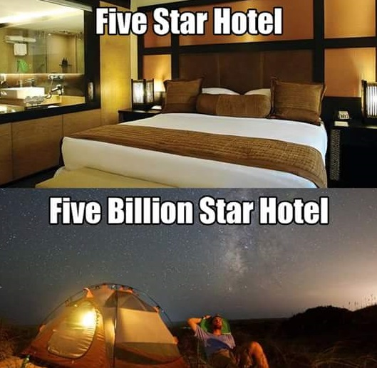 Have you ever seen a 5 billion star hotel