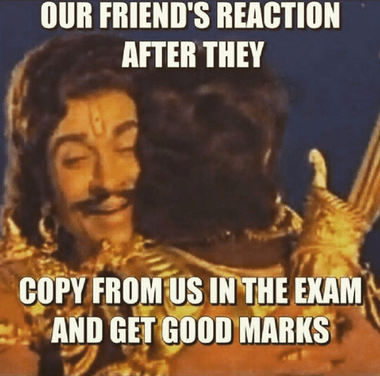 The happiness when you pass in exam after copying