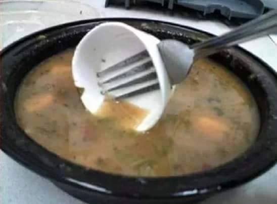 Drinking soup was never so easy